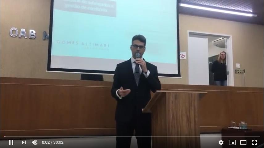 Palestra Dr. Alex Sandro Gomes Altimari   Semana de Valorização do Jovem Advogado