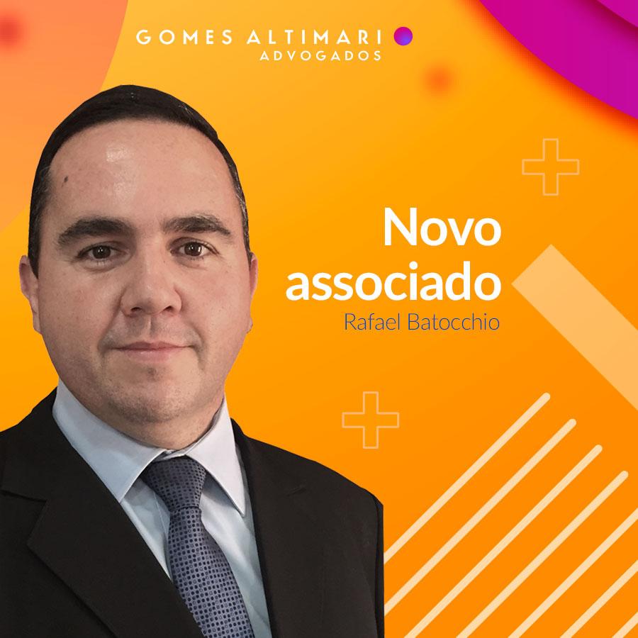 Novo associado do Gomes Altimari Advogados