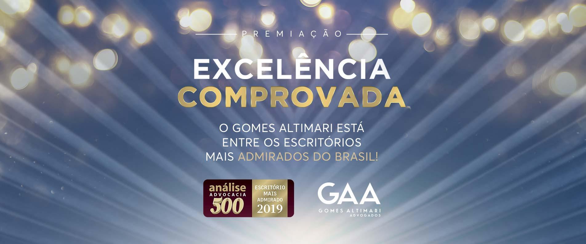 Reconhecimento – Gomes Altimari Advogados está entre os escritórios mais admirados do Brasil
