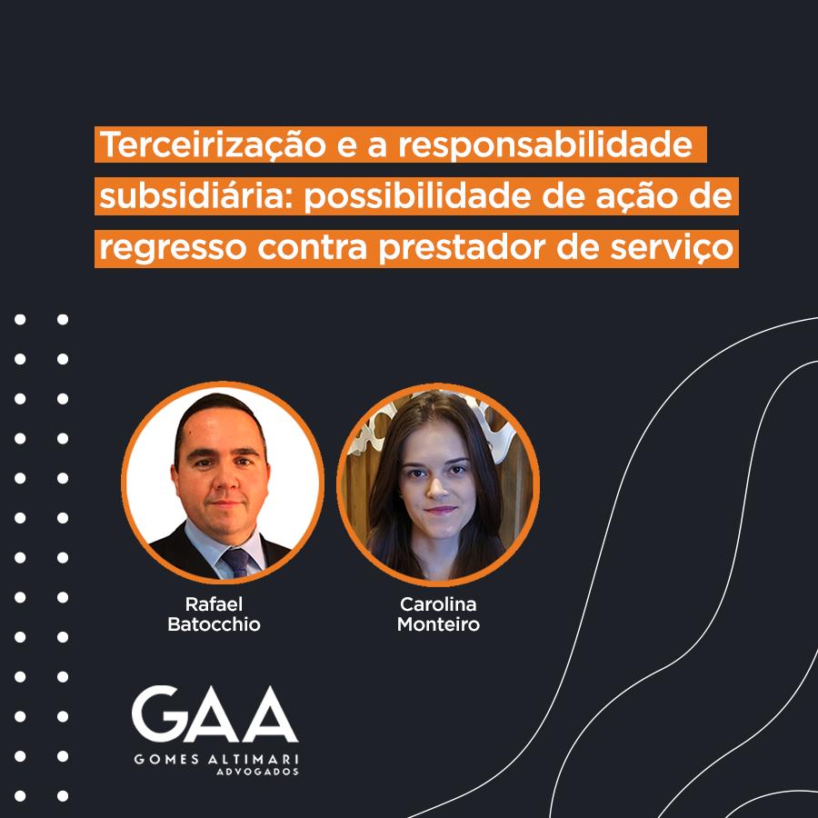 Terceirização e a responsabilidade subsidiária: possibilidade de ação de regresso contra prestador de serviço
