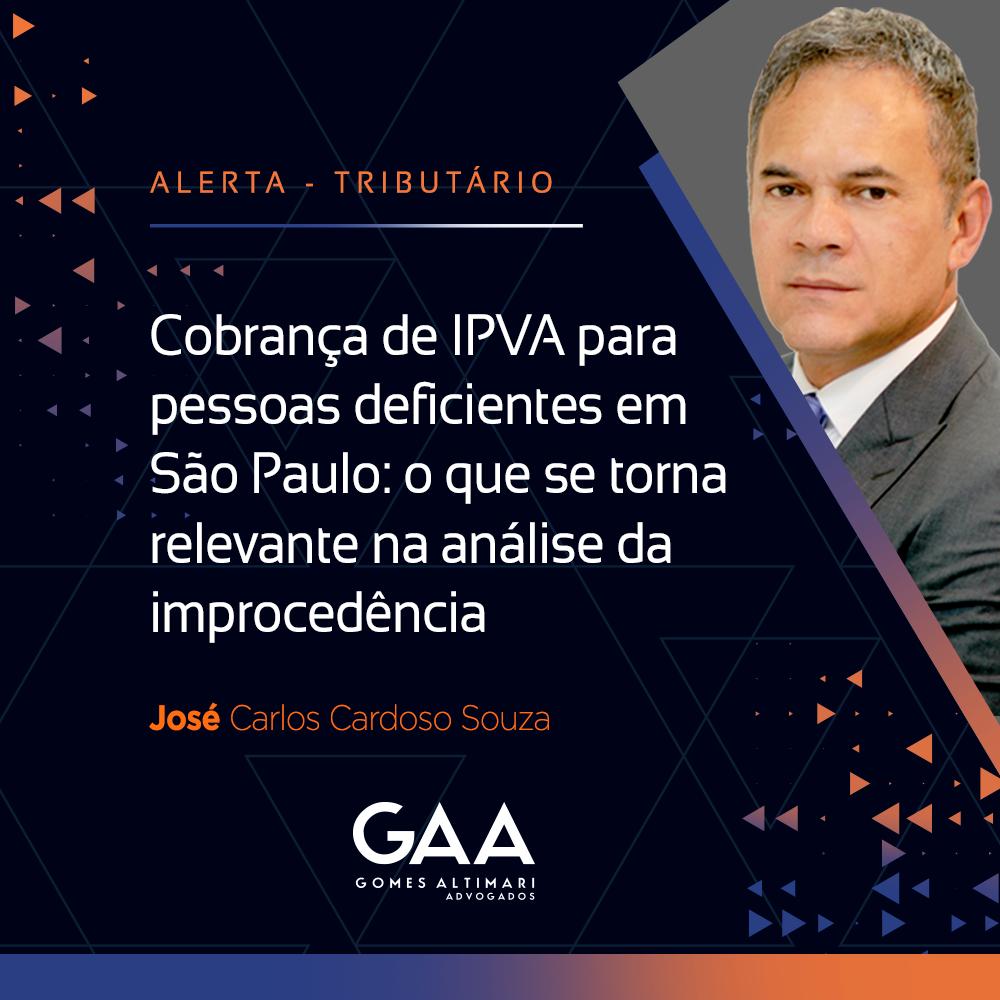 Cobrança de IPVA para pessoas deficientes em São Paulo: o que se torna relevante na análise da improcedência.