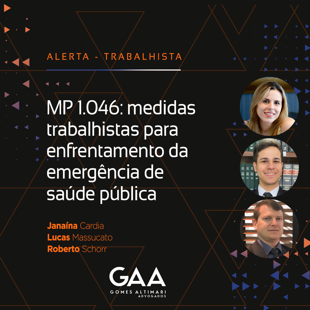MP 1.046 de 27 de abril de 2021: medidas trabalhistas para enfrentamento da emergência de saúde pública